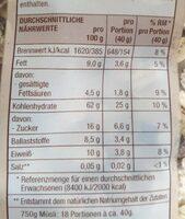 Mühlenklassiker Schokolade - Voedingswaarden - de