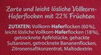 Fruchtiges Hafer-Porridge - Ingrediënten - de