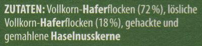 Cremig-zartes Hafer-Porridge Nuss - Zutaten - de