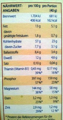 Kölln Müsli Nuss & Krokant - Voedingswaarden - de
