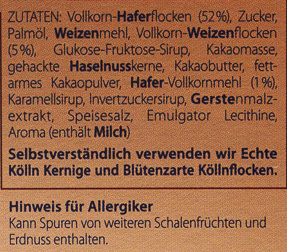 Knusper Schoko Krokant - Ingredients
