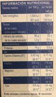 Kolln copos - Información nutricional - fr