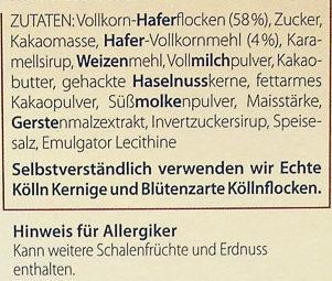 Schoko - Ingredients - de