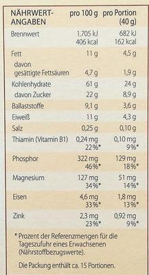 Schoko - Nutrition facts - de