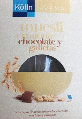 Muesli crujiente chocolate y gallettas