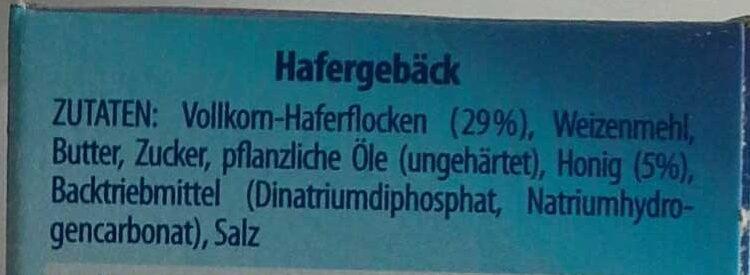 Hafersnack cakes - Ingrediënten