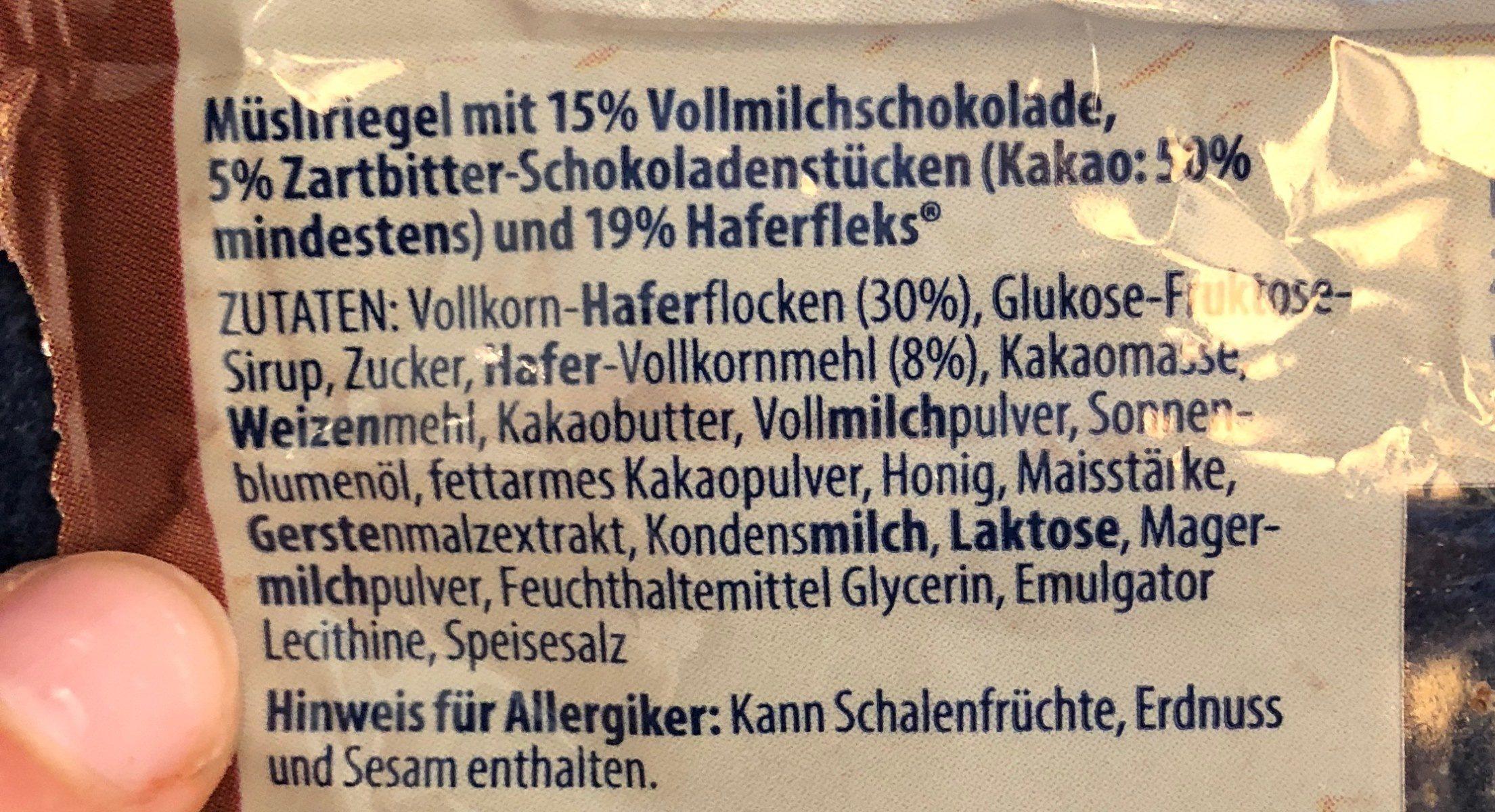 Müsli-Riegel (Shoko) - Ingrédients