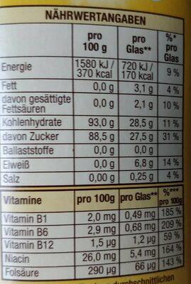 Erdbeer Geschmack - Información nutricional