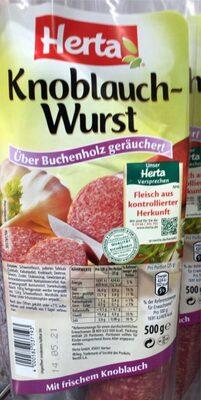 Knoblauch Wurst - Produkt - de