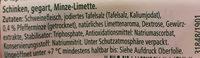 Finesse Schinken gegart Minze-Limette - Zutaten - de