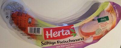 Saftige Fleischwurst mit frischem Knoblauch - Produkt - de