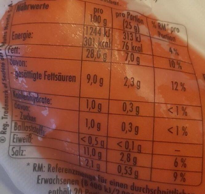 Fleischwurst am Stück - Nährwertangaben - de