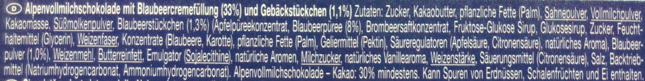 Blueberry Muffin - Ingredients - de