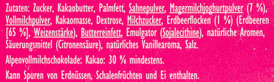 Joghurt-Erdbeer - Ingrediënten