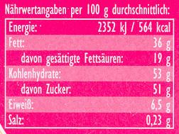 Joghurt-Erdbeer - Voedigswaarden