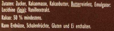 Edel-Zartbitter - Zutaten - de