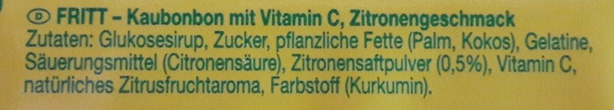 Fritt Crazy Lemon - Ingrédients - fr