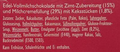 Perfect Match Zimt & Creme - Ingredients - de