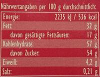 Perfect Match Zimt & Creme - Nutrition facts - de