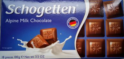 Schogetten alpine milk chocolate - Product