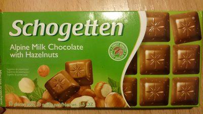 Aplen Milk Chocolate with Hazelnuts - Product