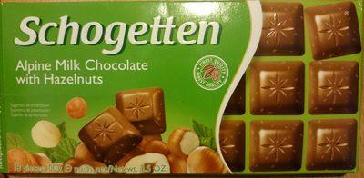 Aplen Milk Chocolate with Hazelnuts - Produit