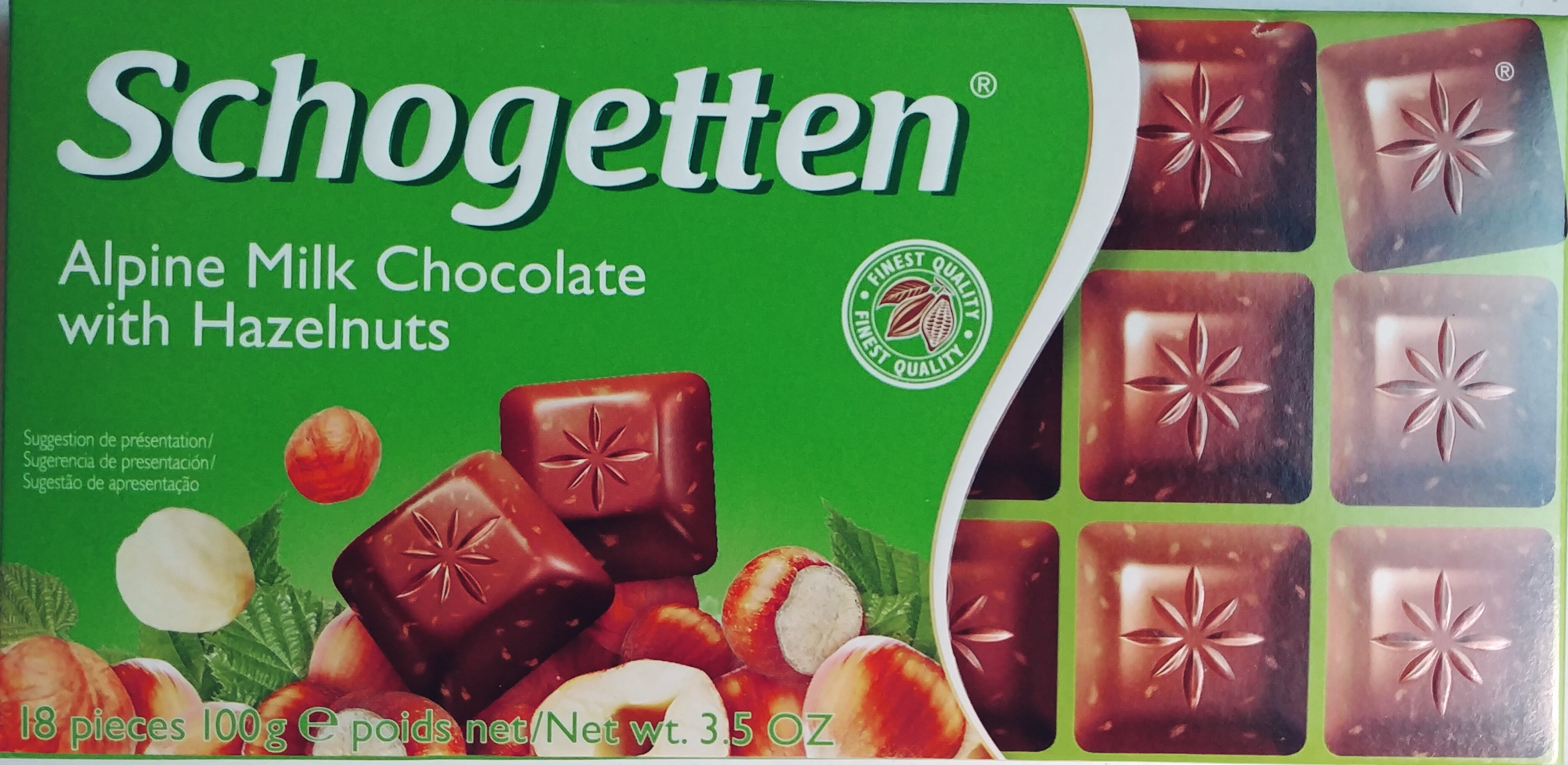 Aplen Milk Chocolate with Hazelnuts - Produkt