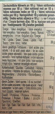 Alpine Milk Chocolate with Hazelnuts - Wartości odżywcze