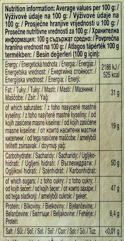 Dark Chocolate - Ernæringsfakta - de