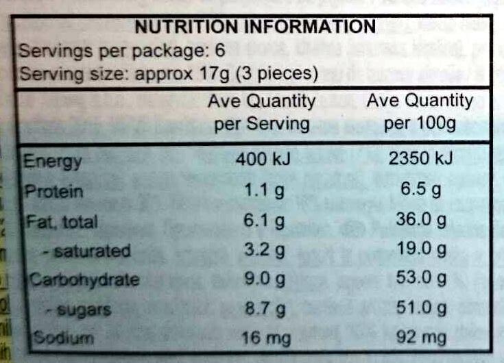 Yoghurt Strawberry Chocolate - Nutrition facts - en