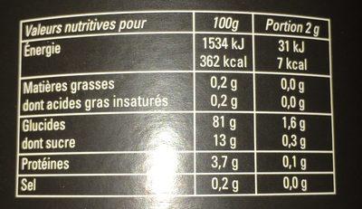 Mount hagen bio aromalt - Nutrition facts