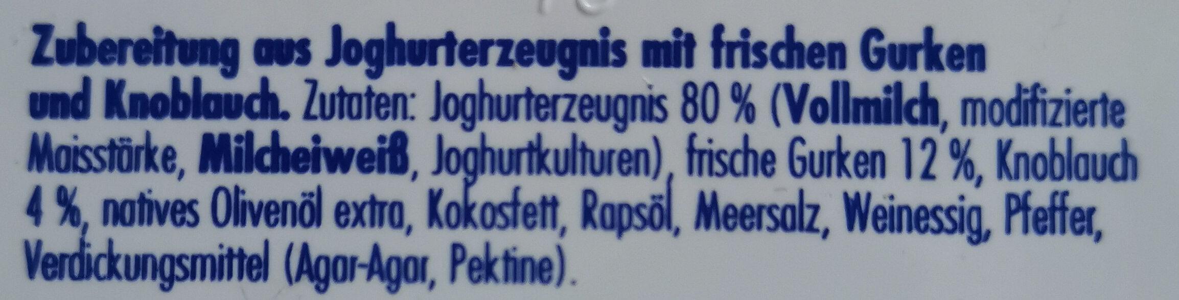 Zaziki - Zutaten - de