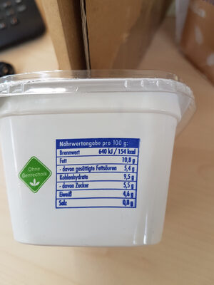 Sour Cream - Ingrédients