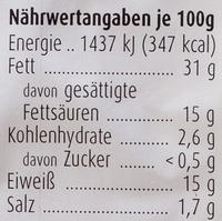 Fromage chevre origine Grece - Nährwertangaben