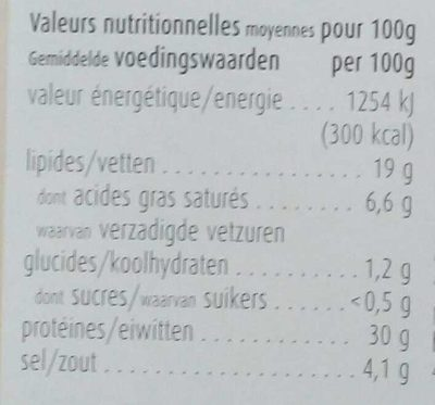 Alto Adige IGP Speck - Nutrition facts