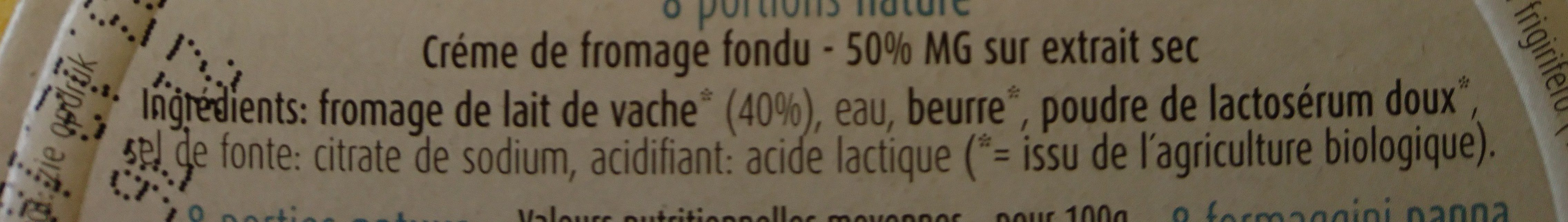Petit fondu bio - Ingredients - fr