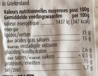Geitenkaas Fromage de chèvre naturel - Nutrition facts - nl