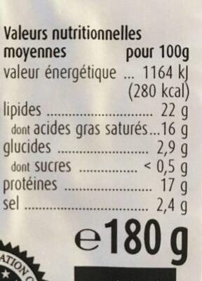 Fêta grecque originale - Nutrition facts - fr