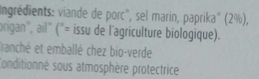 Chorizo - Ingredients
