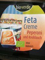 Feta Creme mit Peperoni und Knoblauch - Produkt