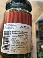 Bio verde Frisches Koriander pesto - Nutrition facts