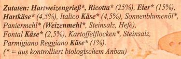 Frische Ravioli 4 Formaggi - Inhaltsstoffe
