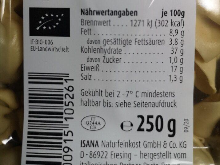 Frische Dinkel Saccottini mit feinem Rindfleisch - Nährwertangaben - de