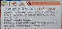 Fromage de chèvre frais mariné au piment - Ingrédients - fr