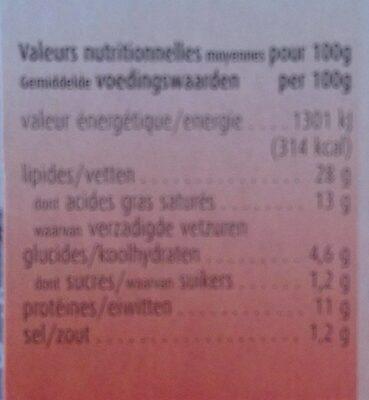 Fromage de chèvre frais mariné au piment - Informations nutritionnelles - fr