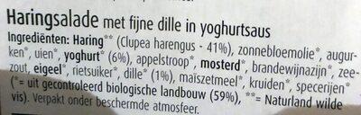 Bio verde Heringssalat In Joghurt dill sauce - Ingredients - nl