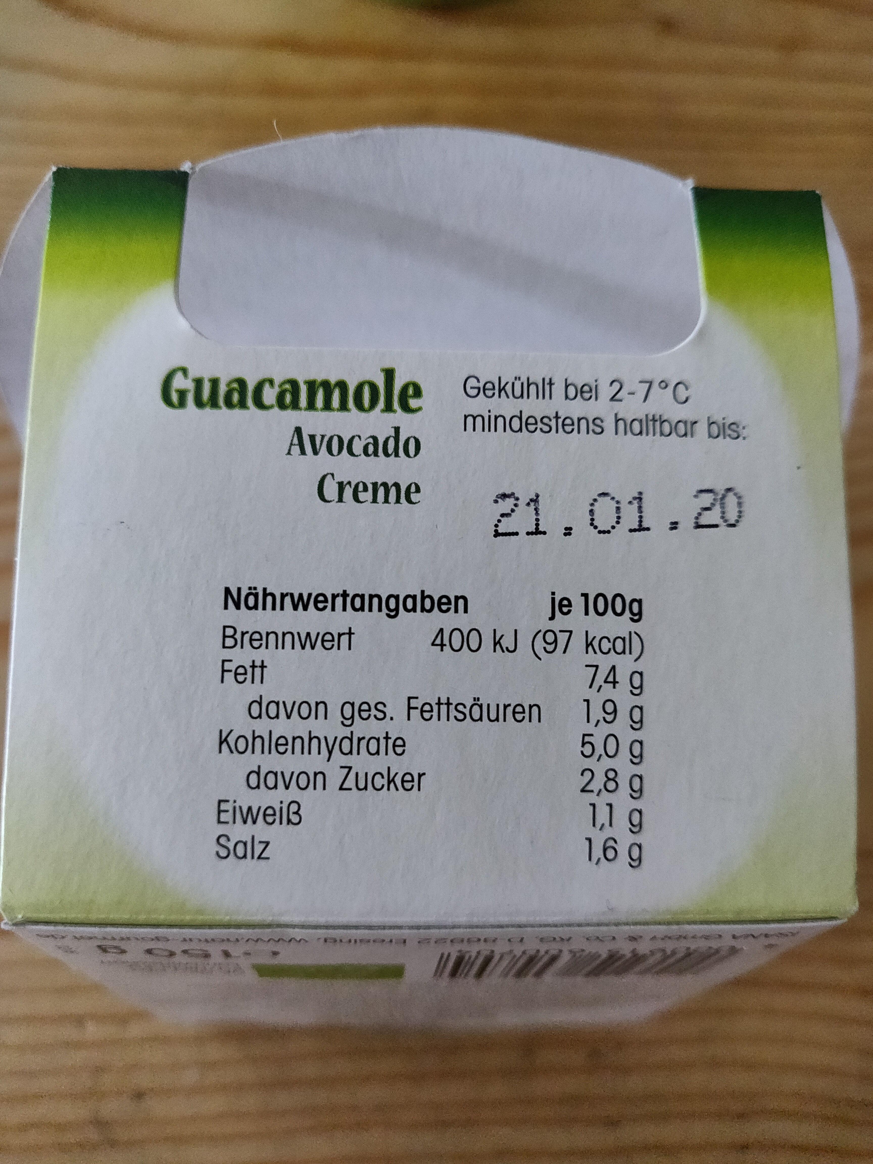 Guacamole - Nutrition facts