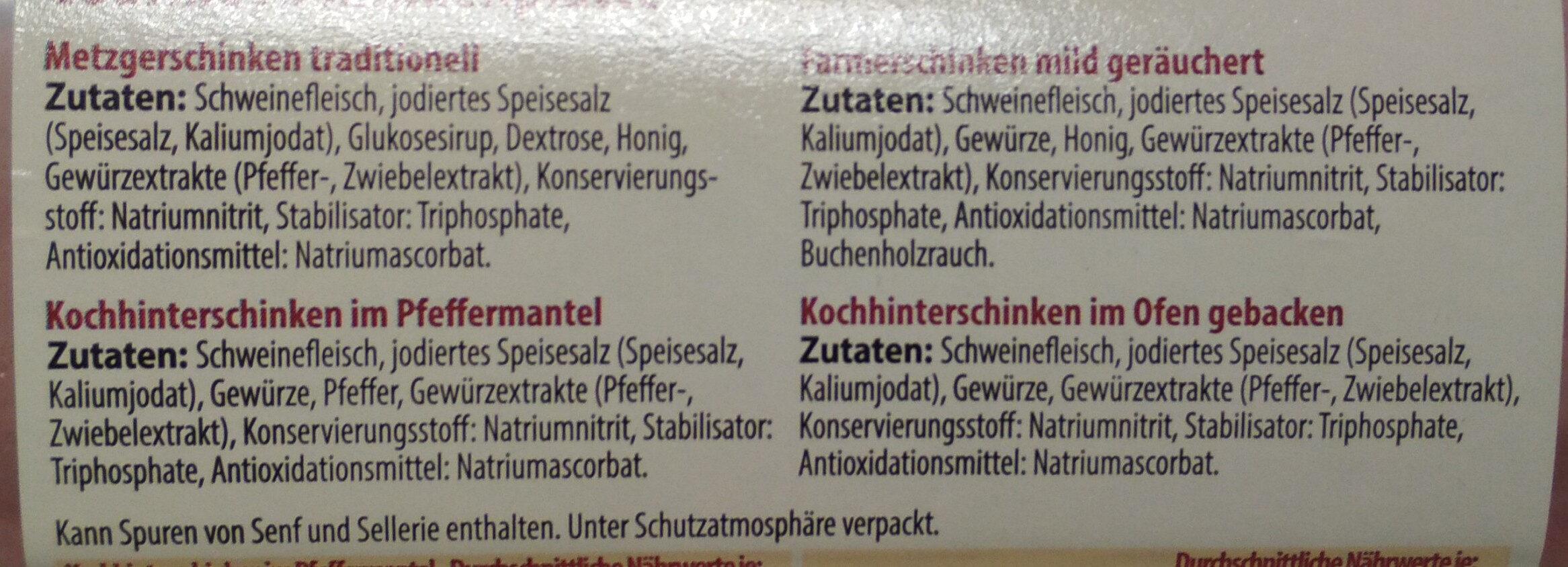 Gourmet Schinkenplatte - Ingrediënten