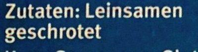 Leinsamen geschrotet - Ingrédients - de