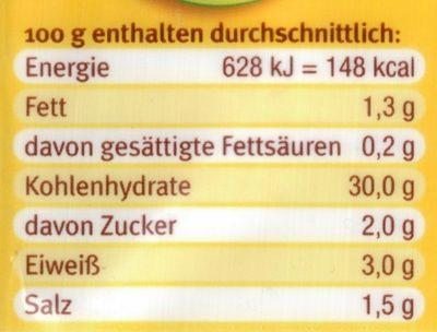 Kartoffelnudeln Schupfnudeln - Nutrition facts
